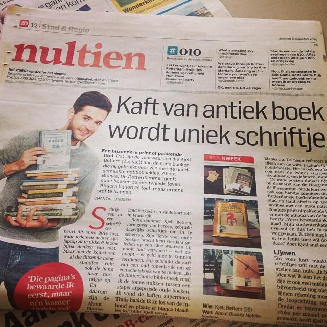 About Blanks in Algemeen Dagblad