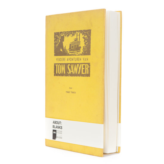 Yellow About Blanks notebook