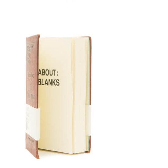 Dark brown notebook About Blanks