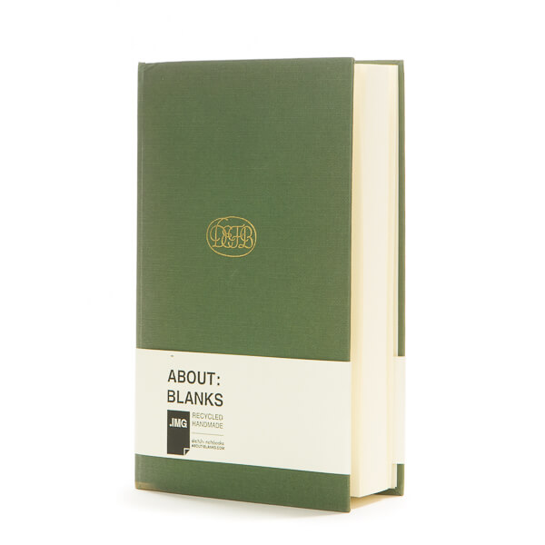 Dark green notebook