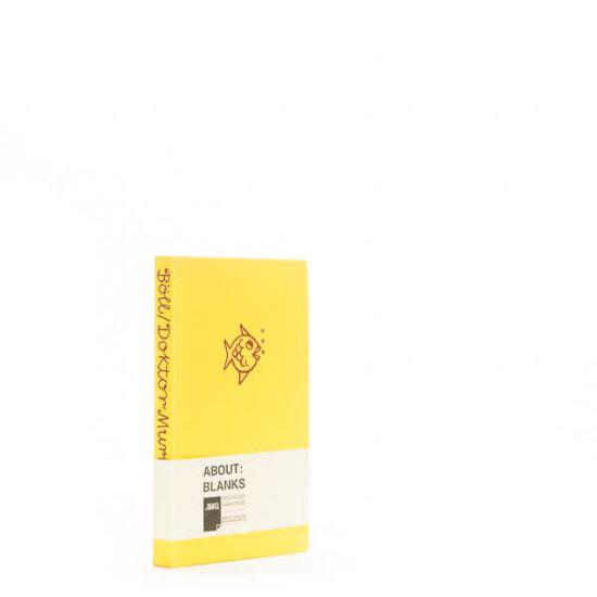 Yellow fish notebook
