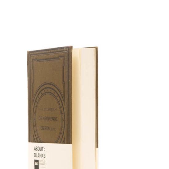 About Blanks dark brown notebook