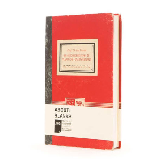 unique red notebook