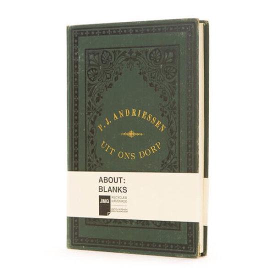 Dark green notebook About Blanks