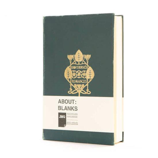 Dark green notebook