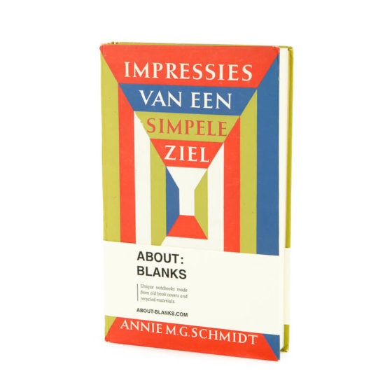 Simpele ziel old book cover notebook