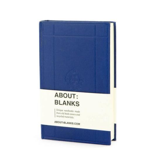 Dark blue About Blanks sketchbook & notebook
