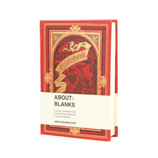 Dark red Unique handmade notebook About Blanks