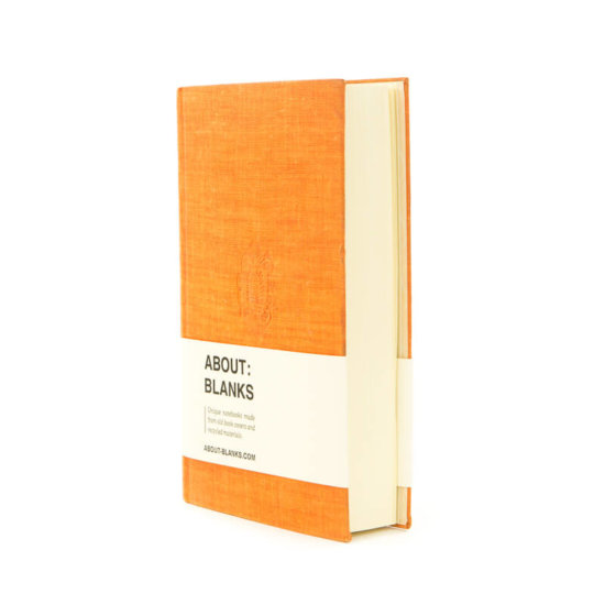 About Blanks orange notebook