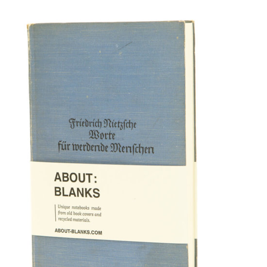 About Blanks light blue notebook