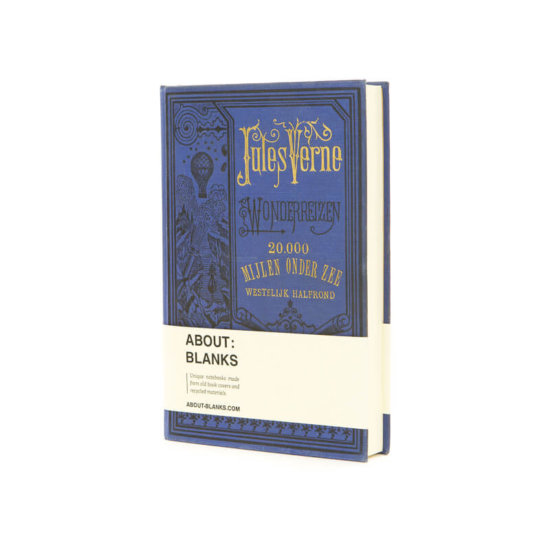 Jules Verne dark blue notebook