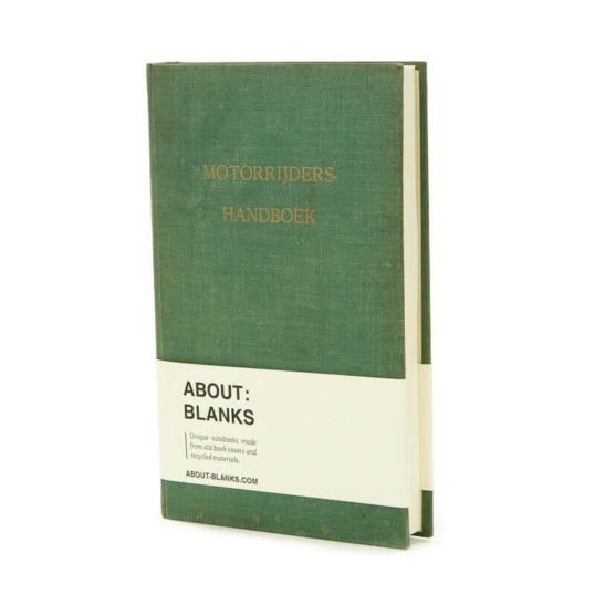 Green About Blanks Motor riders notebook