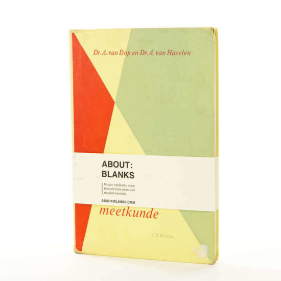 Rebound old Geometry book cover notebook