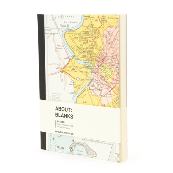 About Blanks Recover city notebook