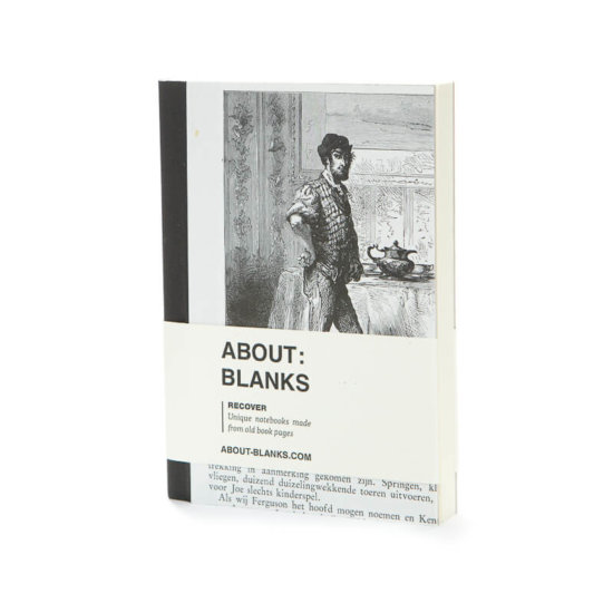 About Blanks Recover uniqe notebook made from old book pages