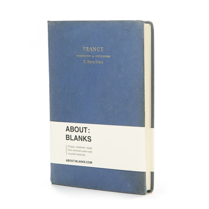 Blue France notebook