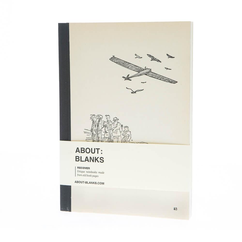 Vliegtuig notitieboek (a5)