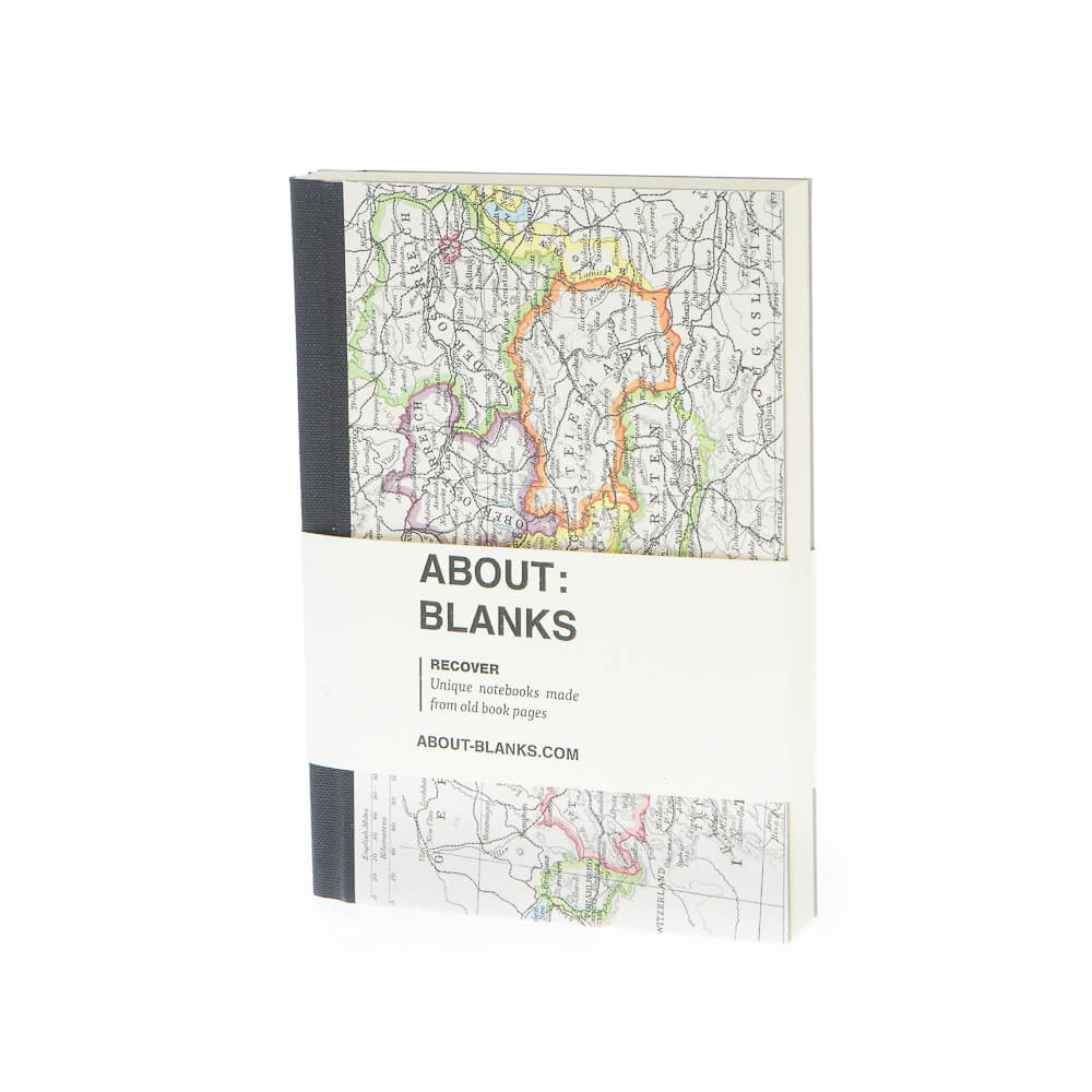 Landkaart notitieboek (A6)
