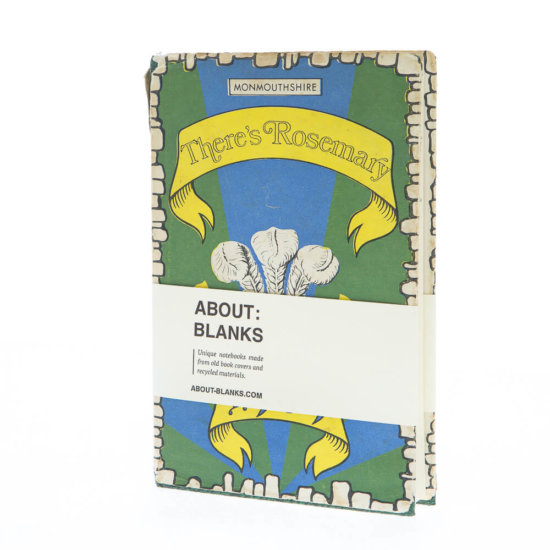 About Blanks original Notebook - Unique notebooks made from old book covers and recycled materials