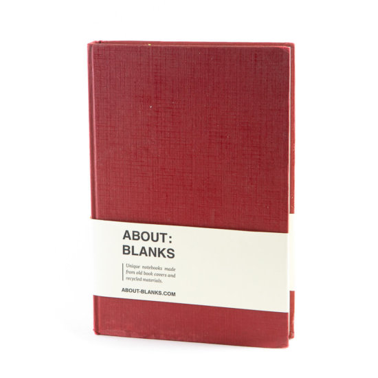 Dark red notebook