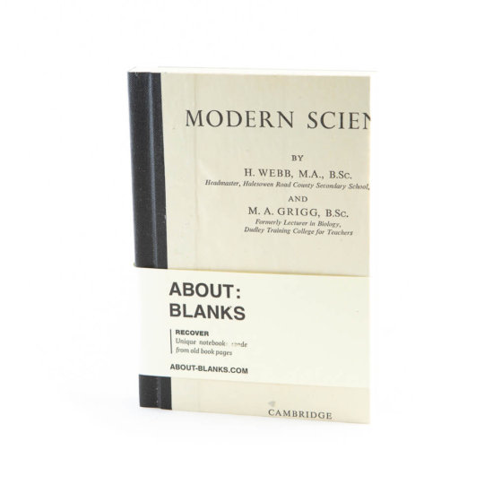 Modern Science notebook (a6)