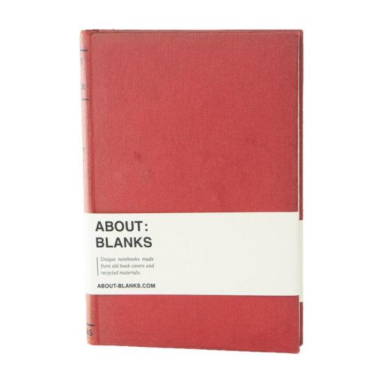 Dark red notebook