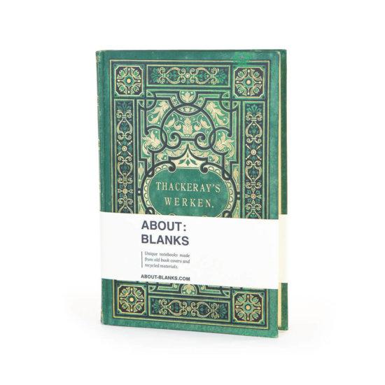 Green gold notebook