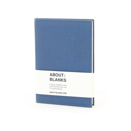 Blue emblem notebook