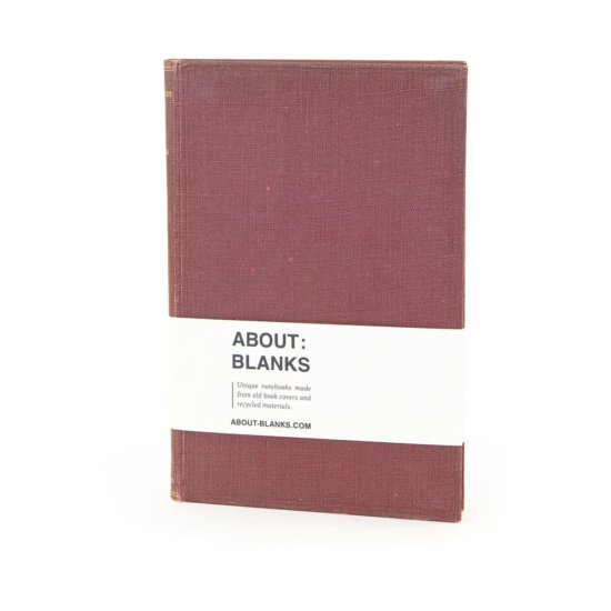 Red brown notebook