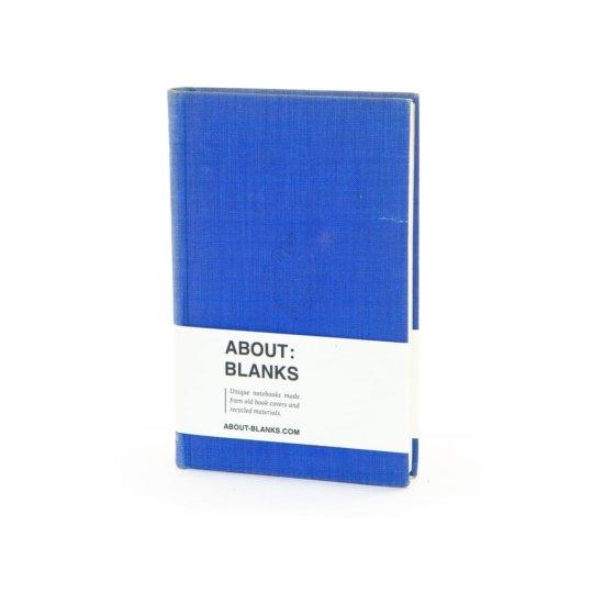 Blue embossed notebook