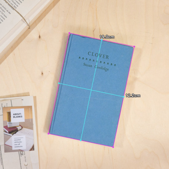 Clover notebook dimensions