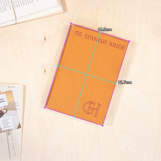 Spanish bride notebook dimensions